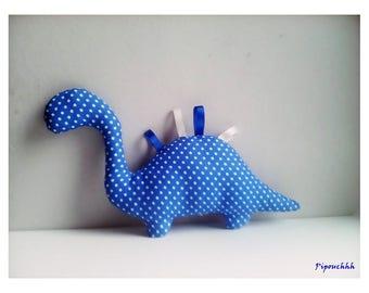 Decoration / toy dinosaur blue polka dots
