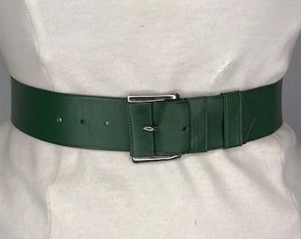2fe4421f56a 1940  s 1950  s Vintage New Old stock dames vert cuir ceinture 1