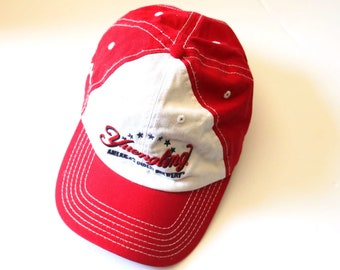 2a0fd4f3 Vintage Yuengling Brewery Beer Red & White Canvas Baseball Trucker Cap Hat  One Size Fits Most