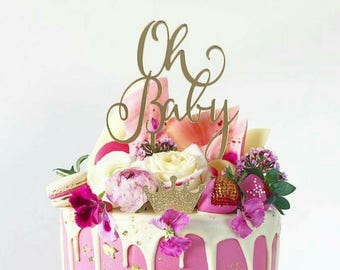 Oh Baby Cake Topper / Baby Shower Cake Topper / Baby Shower Decoration