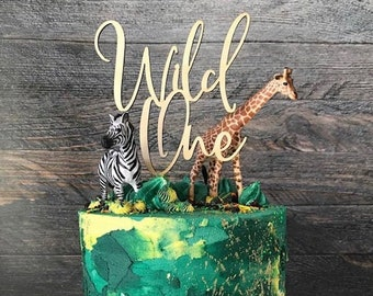 Cool Wild One Cake Topper Etsy Funny Birthday Cards Online Fluifree Goldxyz