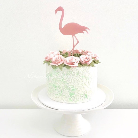 24 Glaseado Pastel Decoraciones Toppers Personalizable Flamingo