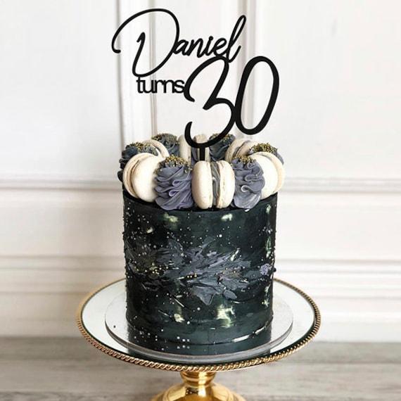 Strange 30Th Birthday Cake Topper Custom Cake Topper Thirty Cake Etsy Personalised Birthday Cards Veneteletsinfo
