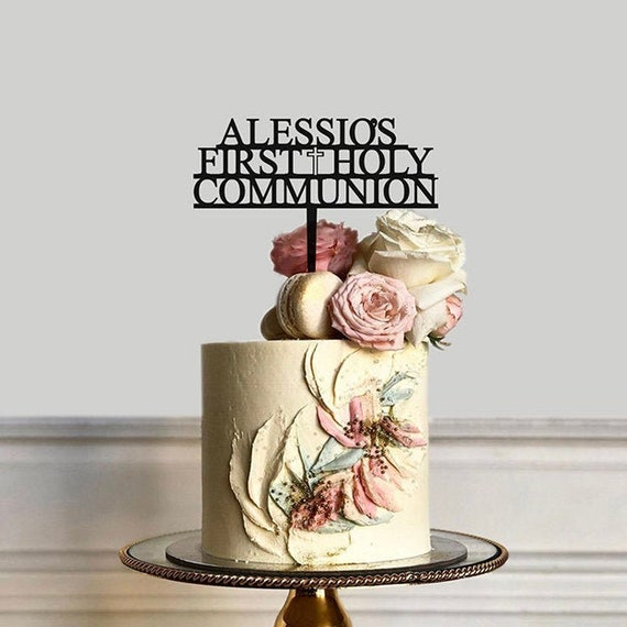 Acrylic or Wood First Holy Communion Cake topper