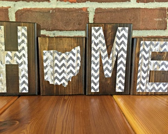 ohio state home decor.htm ohio home block white rustic wood block farmhouse shelf  ohio home block white rustic wood block