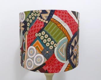 Bindoon Lampshade   Aboriginal Fabric Lamp Shade   Handmade in Australia