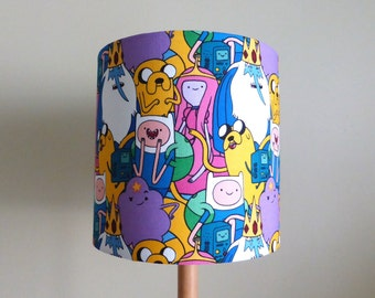 Adventure Time Fabric Lampshade | Jake | Finn | Princess Bubblegum | Handmade in Australia