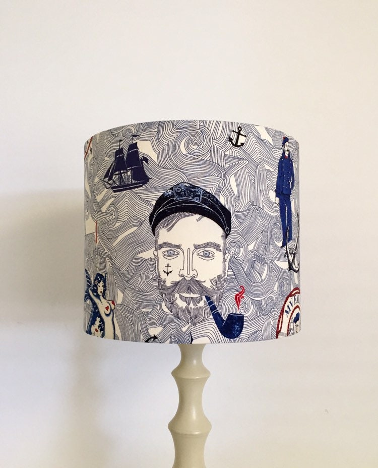Captain Nautical Lampshade, Handmade Lampshades Norfolk