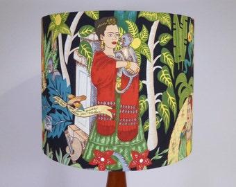 Frida BLACK Lampshade   Folklorico Lamp Shade   Handmade in Australia