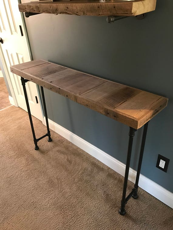 Reclaimed Barn Wood Sofa Table Etsy