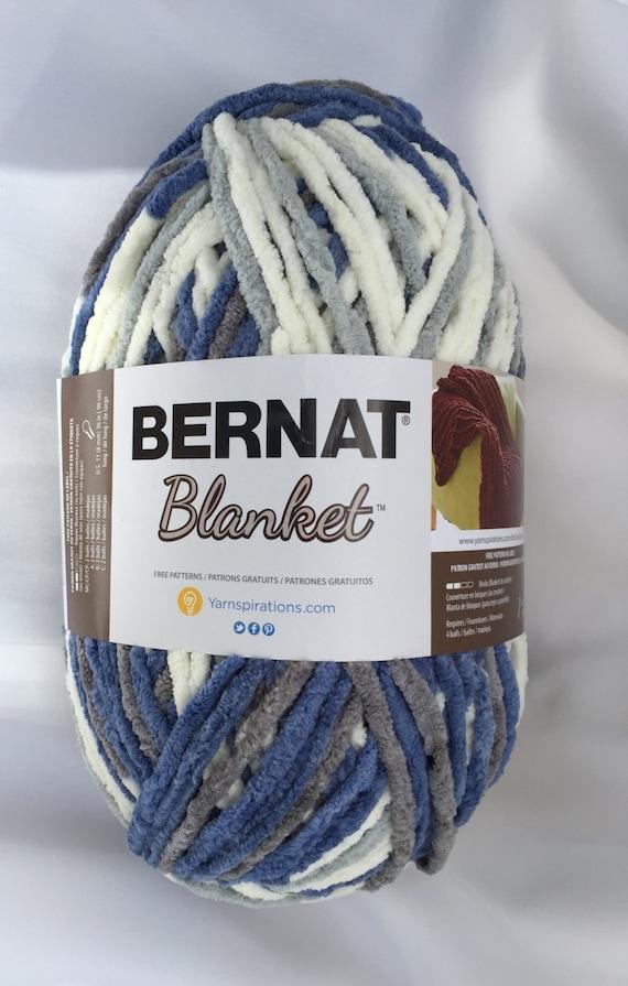 ~ Chenille ~ dcoyshouseofyarn 6 GRAY BLUE 10900  Bernat Blanket Yarn ~ 220yds ~ 10.5 oz  Skein Super Bulky