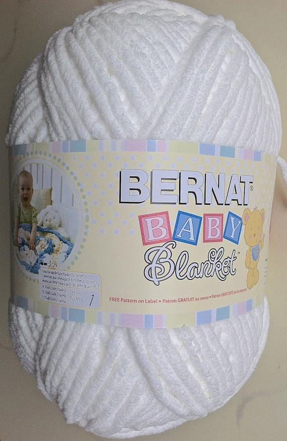 WHITE Bernat Baby Blanket Yarn 04005 10.5 oz Skein Crochet | Etsy