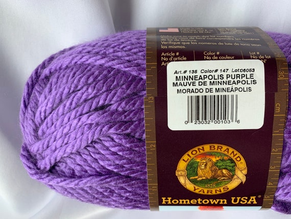 Minneapolis Purple Lion Brand Yarn 135-147J Hometown USA Yarn