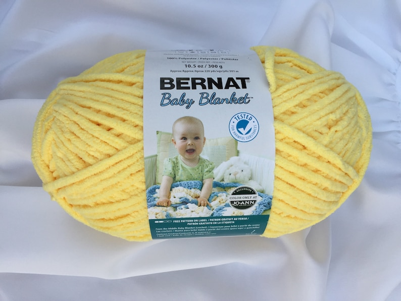 a3a69ad5771 BUTTERCUP 04746 Yellow Bernat Baby Blanket Yarn 220yds
