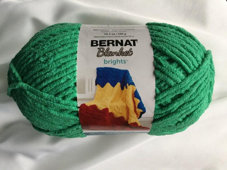 Bernat Blanket Brights GO GO GREEN 12004 Yarn Big 10 5 oz Skein / Bernat  Blanket Yarn New Colors