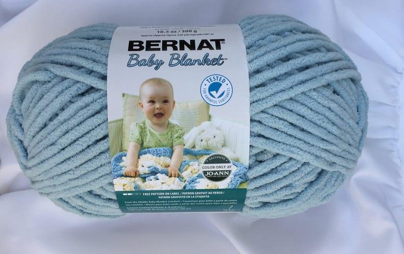 OVERCAST 04744 Bernat Baby Blanket Yarn ~ 220yds ~ 10 5 oz Skein ~ Super  Bulky (6) - Chenille ~ Crochet~Knitting Supply~Bernat Stitch N Win