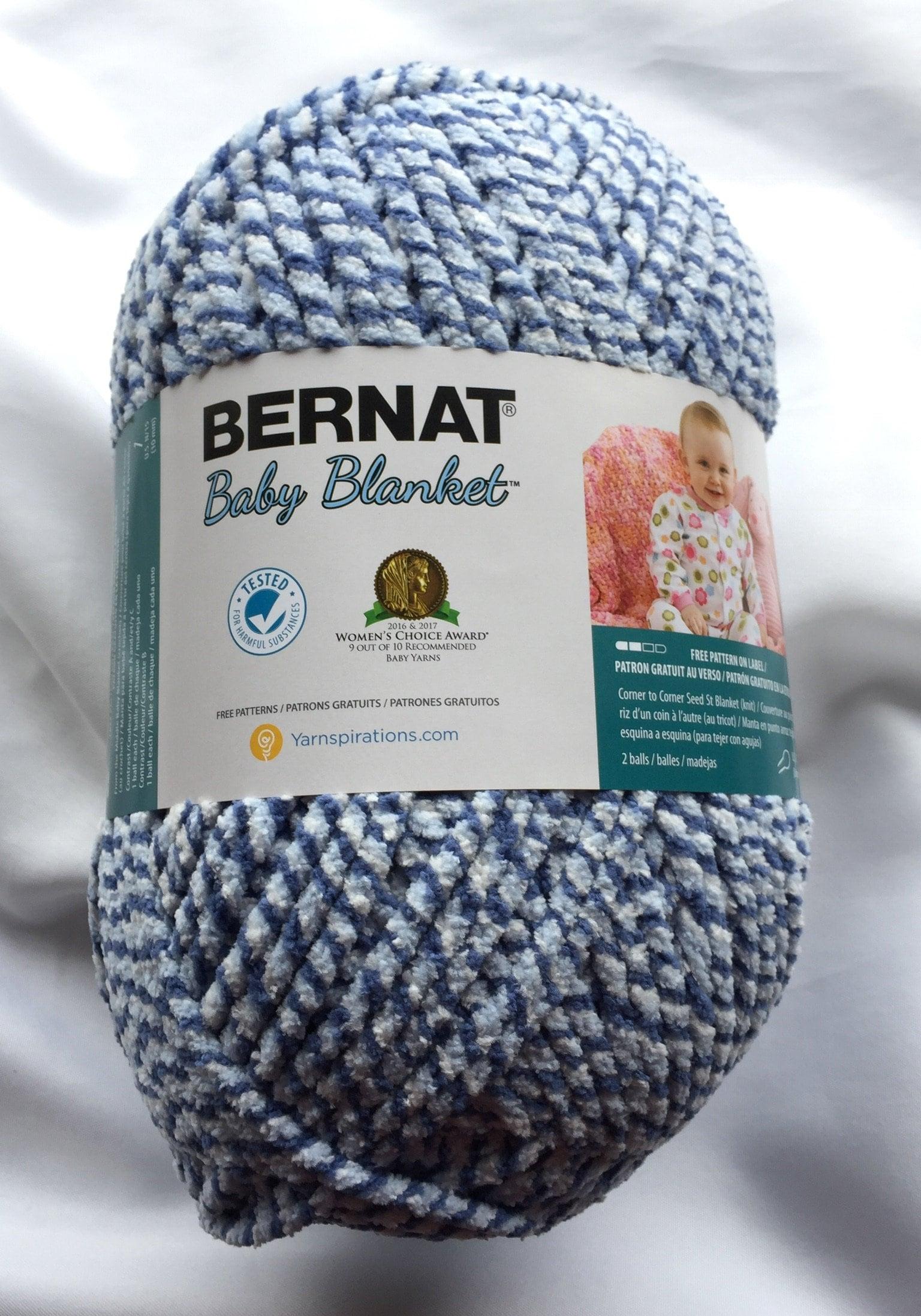 Blue Twist 10002 Bernat Baby Blanket Yarn 220yds ~ 10 5 oz ~300g Super  Bulky(6) ~ Blue Yarn for Boys Crochet ~ Knitting Supply ~Easy Care