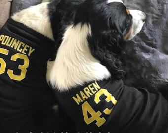 0d8cb175b Dog Football Jersey - Dog Shirt - Black Tee - Dog Football Shirt - Saints