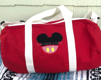 Mickey Mouse Small Duffle Bag - Minnie Mouse Small Duffle Bag - Small Diaper Bag - Disney Bag - Personalized Mickey Mouse Bag