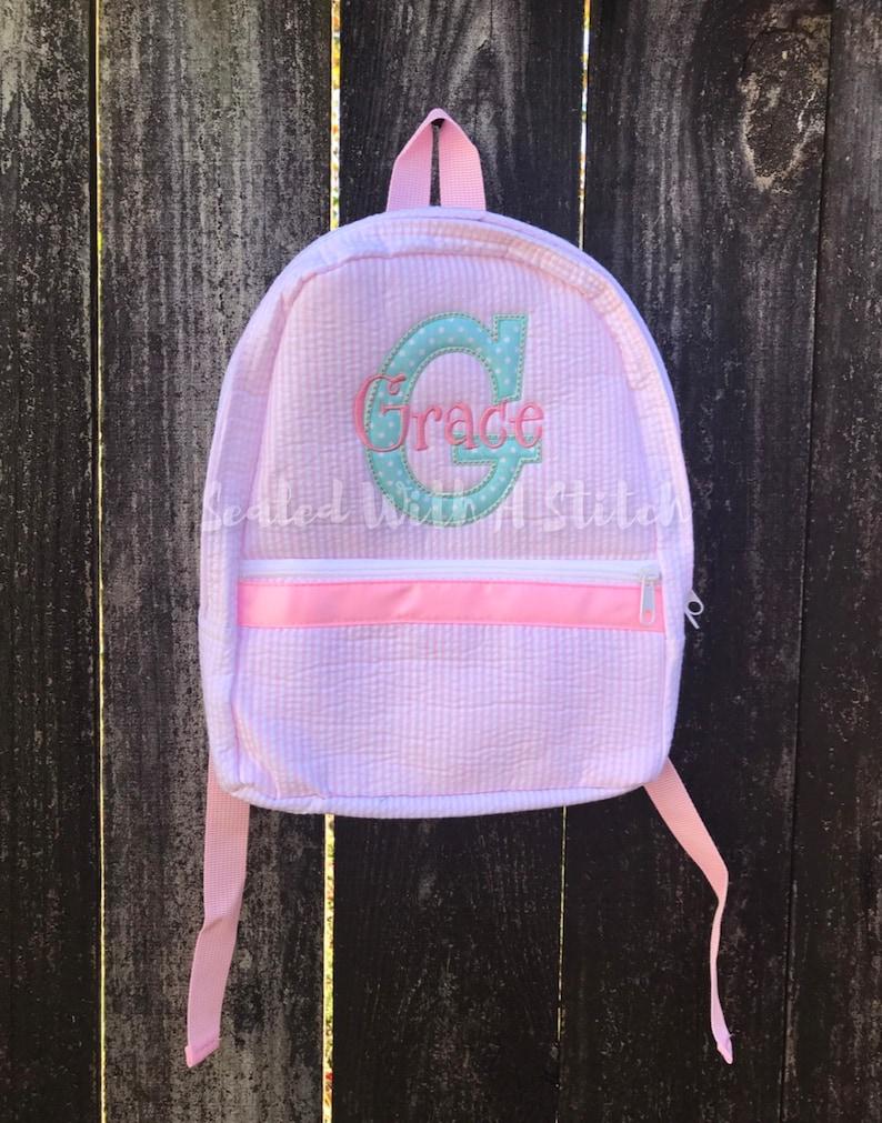 Kids Backpack Seersucker Backpack
