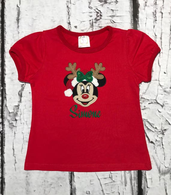 Minnie Mouse Christmas Dress.Minnie Mouse Christmas Shirt Dress Romper Personalization Included