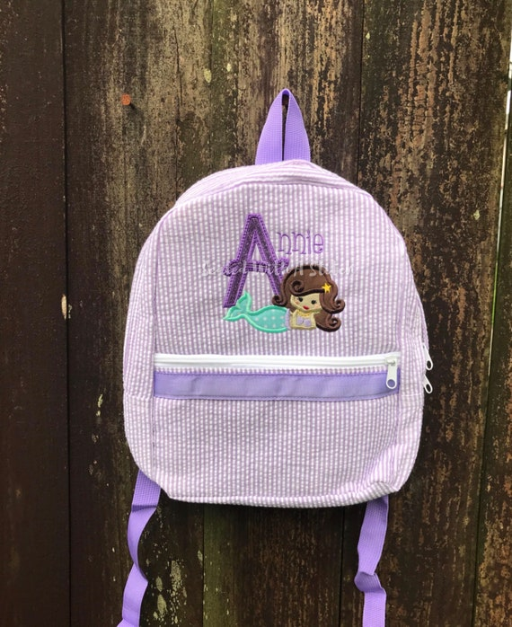 Mermaid Seersucker Backpack  fd85d0cc76784
