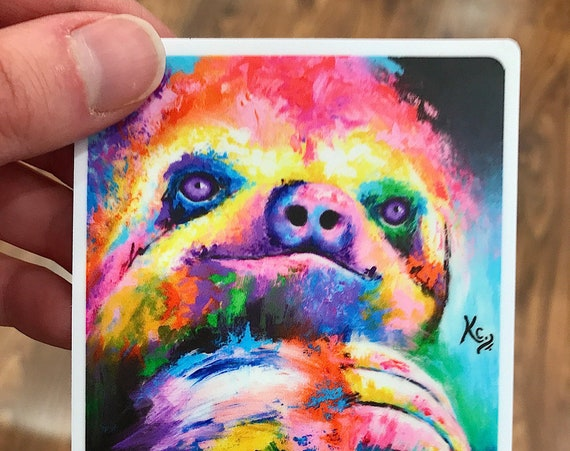 Sloth Sticker - Limited Edition Psychedelic Sloth
