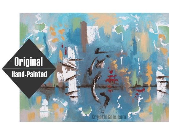 "Blue Horizon Painting - 20x30"""