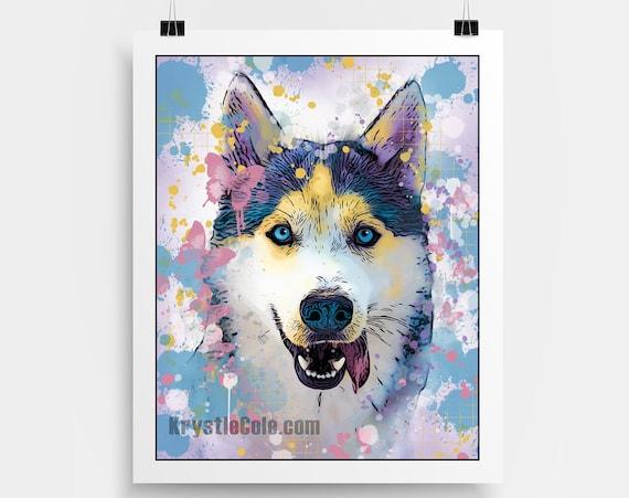 Husky Print