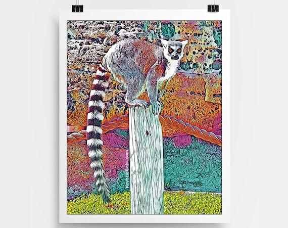 Tanganyika Lemur - Original Digital Art Print