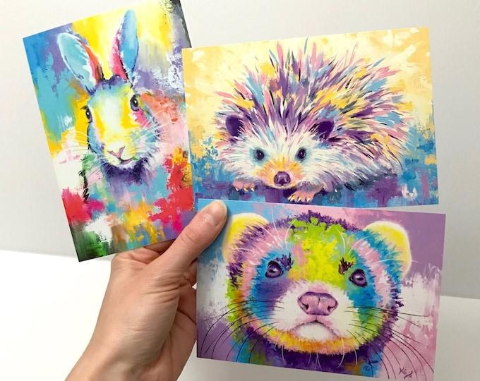 Woodland Animal Postcards - Set of 3