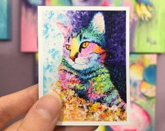 Cat Magnet - Limited Edition Rainbow Tabby
