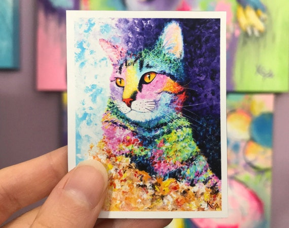 Cat Magnet - Limited Edition Rainbow Tabby