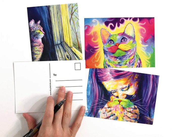 Cat Postcards - Set of 3