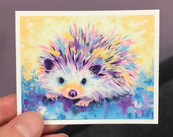 Limited Edition Hedgehog Sticker
