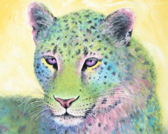 Amur Leopard Emerald Print
