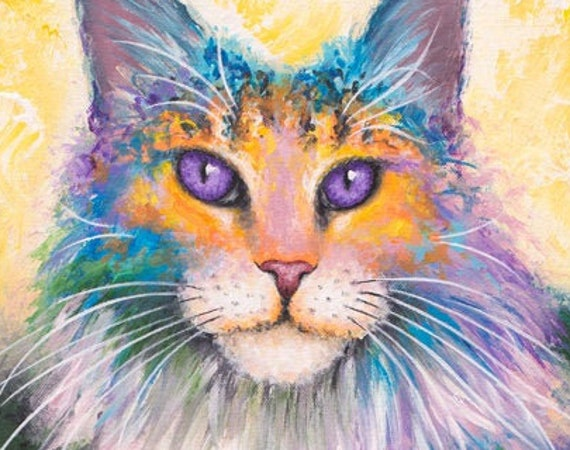 Maine Coon Cat Print