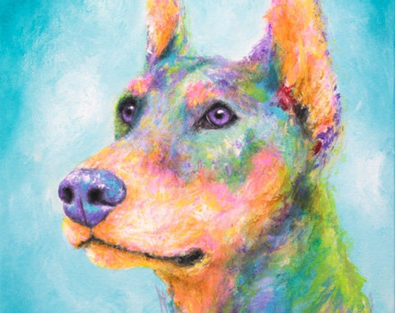 Doberman Pinscher Painting