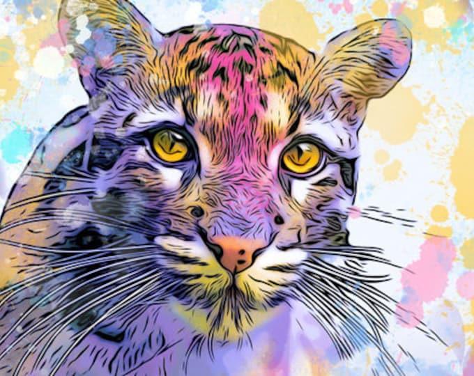 Clouded Leopard Print
