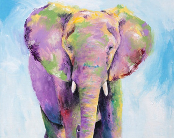 Elephant Titan Original Painting