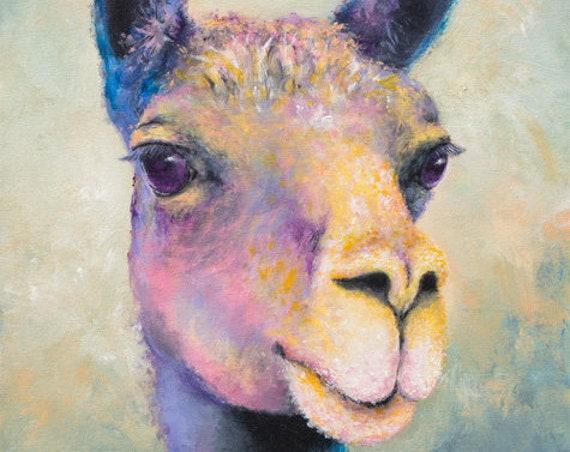 Llama Gertie Painting
