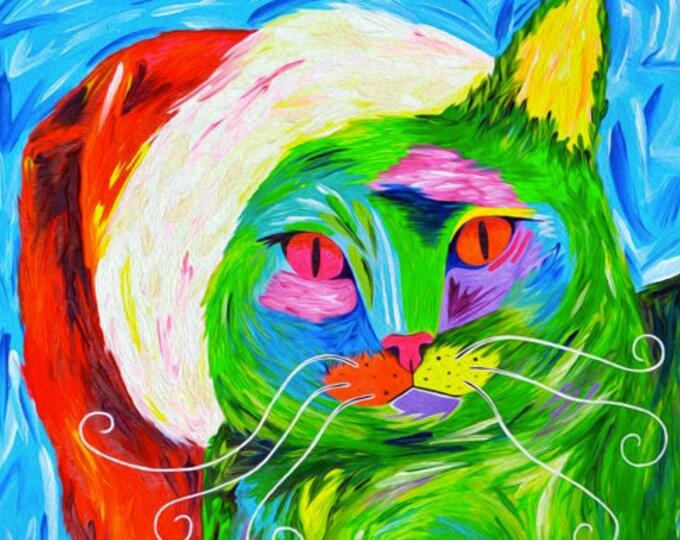 Karma the Grinch - Christmas Cat Print