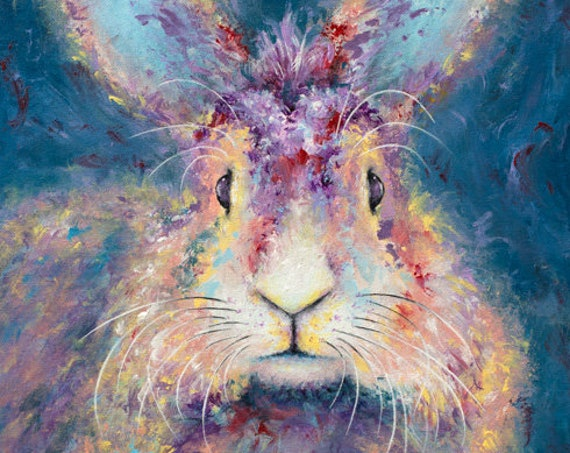White Rabbit Print