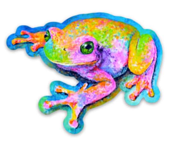 Vinyl Frog Sticker