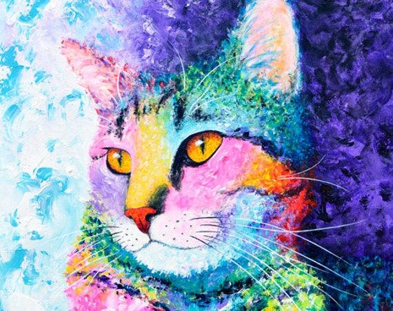 Rainbow Tabby Painting