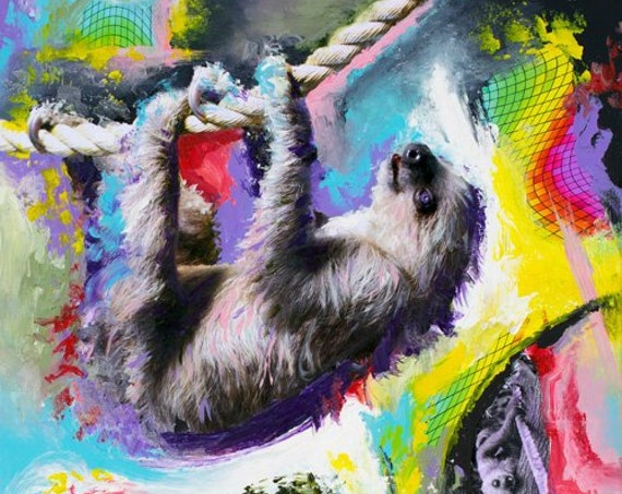 Cosmic Dance of the Inner Sloth Print