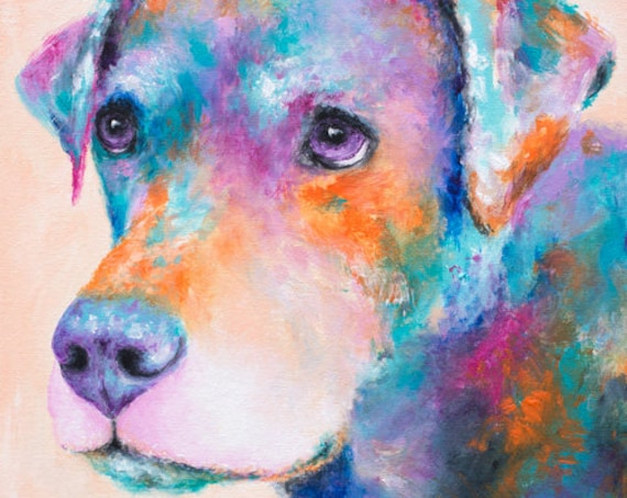 Pit Bull Lab Mix Print - Brinks