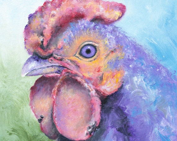 Purple Rooster Print