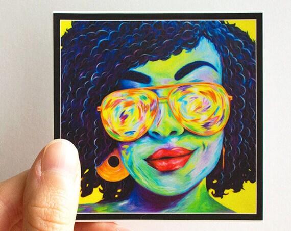 Vinyl Psychedelic Sister Sticker
