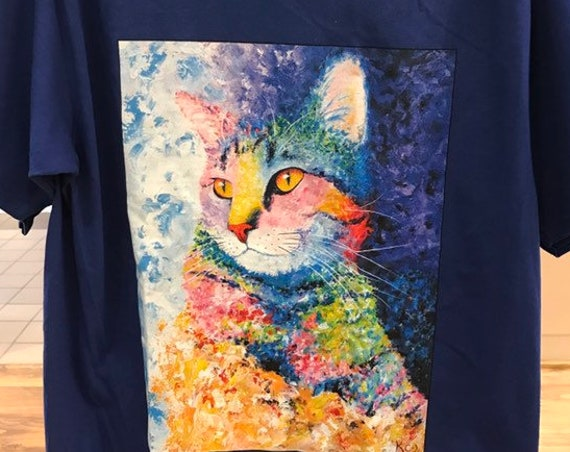 "Unisex Cat T-Shirt ""Rainbow Tabby"""